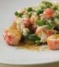 Herbed green pea and Alaskan King Crab risotto