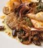 Calamari alla Ligure with sage, mushrooms and black olives