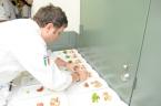 Pino prepares his Lobster Medallions