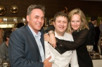 Pino, Bruce Langeris and Julieanna Vogel at the Chefs For Life event