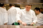 Pino prepares his dish at the Chefs For Life event