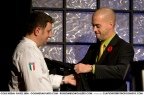 Pino being presented with his Hall of Fame jacket at Gold Medal Plates 2008