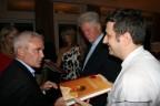 Pino with his book, Frank Giustra & Bill Clinton