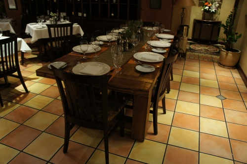 CHEF'S TABLE TAKING SHAPE....