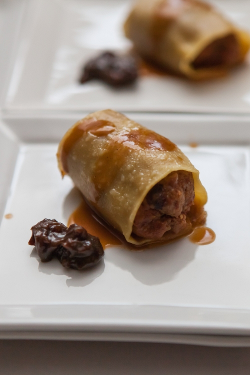 Vancouver Magazine Big Night 2014:Cannelloni of Natural Beef and its Chorizo